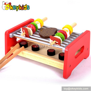 Tabletop grill wooden kids bbq set toy W10C165