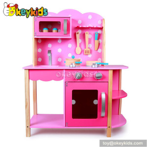 Fashionable wooden paly kitchen toy for girls W10C182
