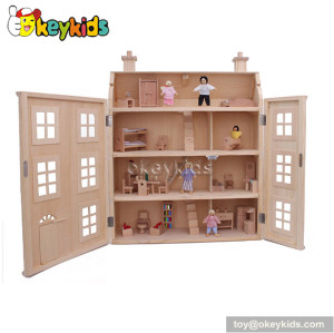 Role play children wooden dollhouse playset W06A099