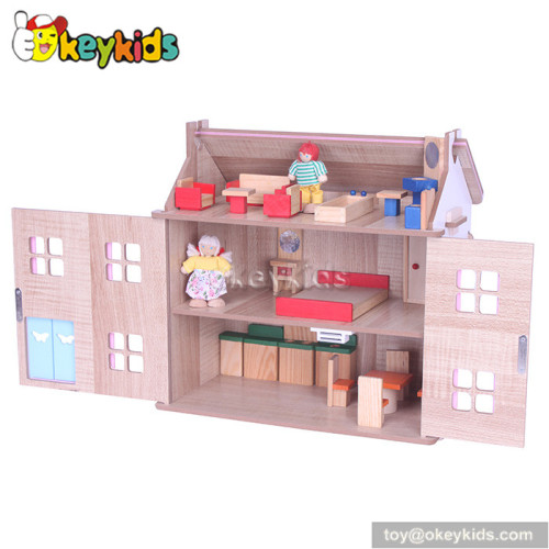 Christmas gift children wooden dollhouse toy W06A130