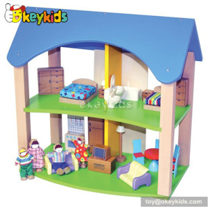 Attractive children toy wooden dollhouse kit W06A131