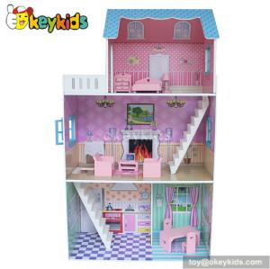 Wooden modern dream glitter dollhouse fits barbie W06A133