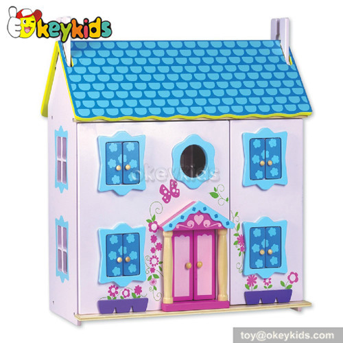 Dreamy toy children wooden doll house W06A021