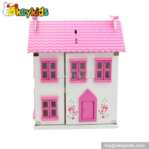 Hottest wooden doll cottage with furniture W06A077
