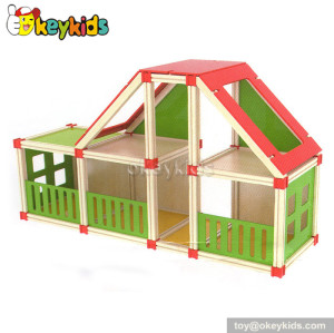Wonderful children toy wooden dollhouse W06A110