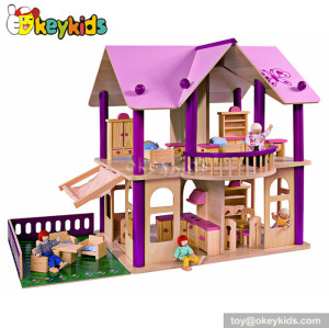 Wonderful playset wooden house toy W06A118