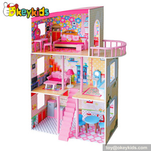 Dreamy wooden dollhouse for barbie W06A160