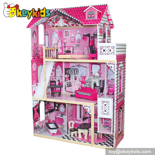 simulation babies wooden dollhouse toy w06a101 brand baby wooden doll house