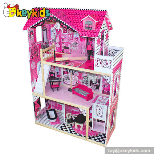 Simulation babies wooden dollhouse toy W06A101