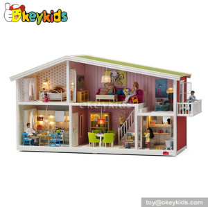Wonderful children toy wooden playhouse W06A117