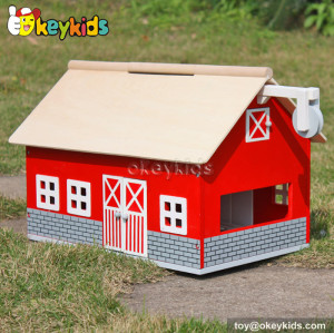 Fancy toy wooden barn house W06A105