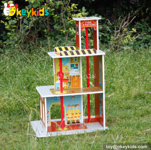 City play wooden fire station set W06A144