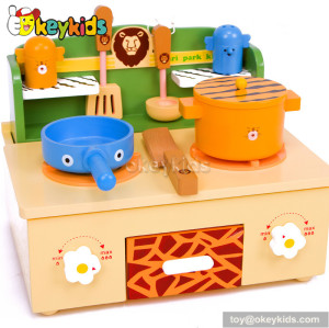 Tabletop kids wooden stove toy W10C184