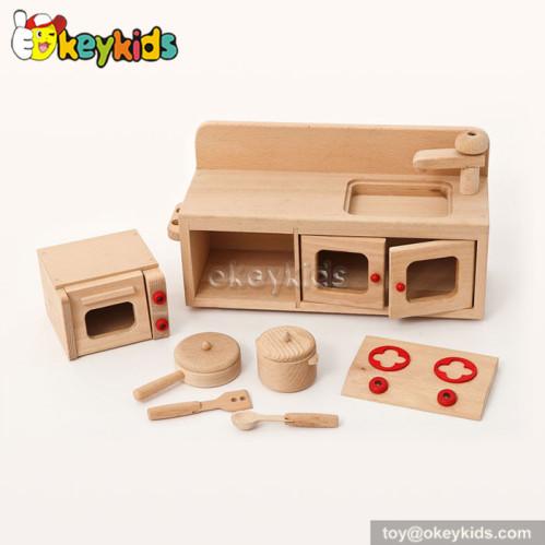 Natural woodeen children mini kitchen set toy w10c200 for Kitchen set natural