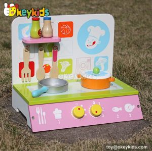 Funny children tabletop wooden kitchenette set W10C185
