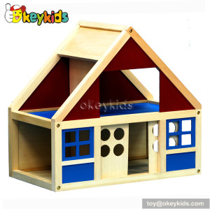 Pretend play toy wooden cozy cottage W06A070