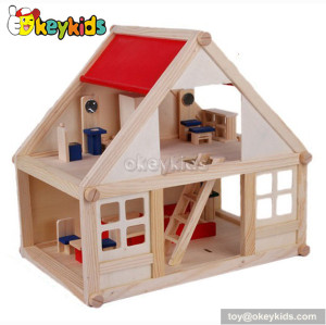 Classical kids diy wooden toy cottage W06A070B
