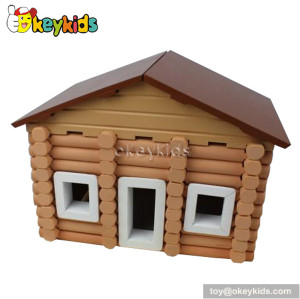 Assembly toys wooden cottage playset W06A074