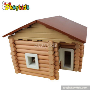 Educational 3D building wooden cottage toy W06A075
