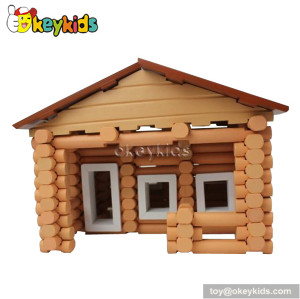 DIY assembly wooden house toy for kids W06A076