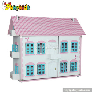 Crafts gifts children wooden doll house playset for sale W06A030
