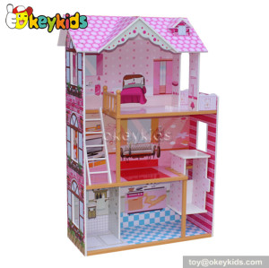 Modern luxury wooden dollhouse W06A032