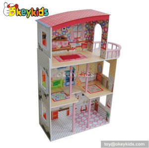 Luxury wooden dream dollhouse with furnitures W06A081