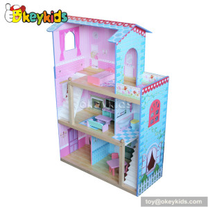 Luxury wooden big dollhouse with furnitures W06A084