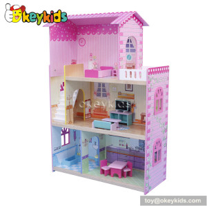 Nice wooden DIY kits miniature doll house great for gift W06A085