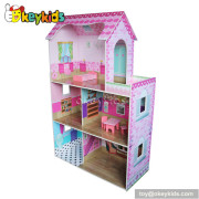 Classic wooden doll house with furniture set W06A089
