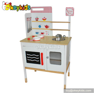 Preschool game wooden miniature toy kitchen play set W10C082