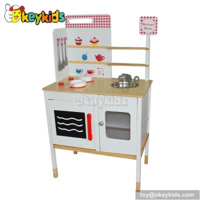 Preschool game wooden miniature toy kitchen play set W10C082