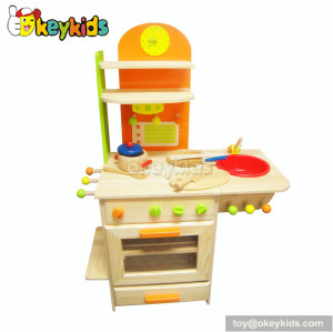 Preschool game wooden kids kitchen play set W10C081A