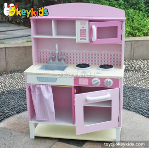 Preschool game diy kids wooden play kitchen set W10C067
