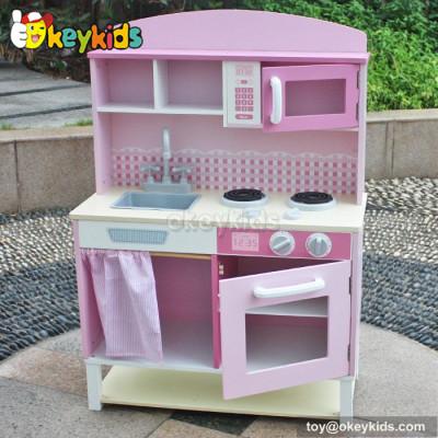 Preschool game diy kids wooden play kitchen set W10C067