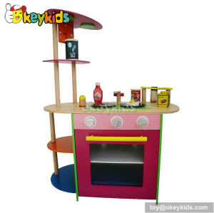 Preschool game wooden play kitchen for sale W10C086