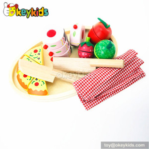 Simulation kids cutting toy wooden play food W10B017