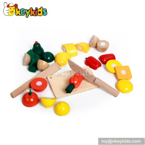 Simulation pretend food cutting wooden vegetable toy W10B018
