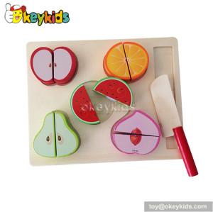 Pretend food children wooden cutting fruit toy W10B162A