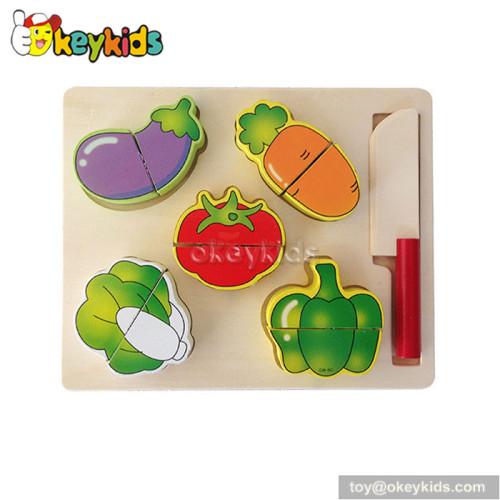 Pretend food children wooden simulation fruit vegetable toy W10B162B