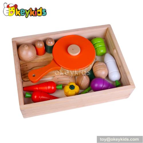 Pretend play children wooden vegetable set toy W10B163