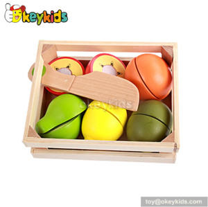 Pretend play children wooden fruit set toy W10B164