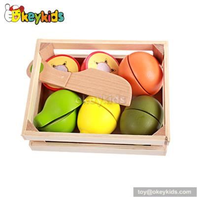 Pretend play children wooden fruit set toy W10B164