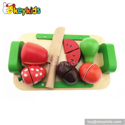Pretend play children wooden toy fruit and vegetables W10B167