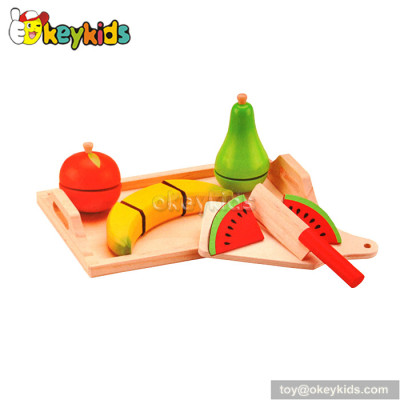Emulation kids cutting wooden toy fruit W10B168