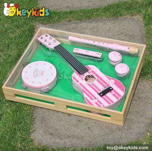 baby wooden music instruments toy Set Children Guitar toy set W07A035