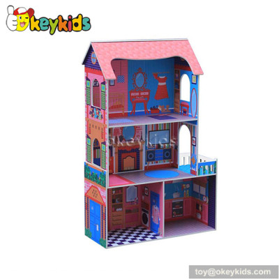 Classic children toy wooden doll houses for sale W06A142