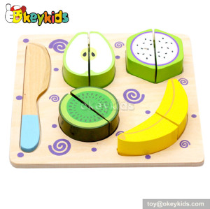 Emulation kids wooden play food set W10B091-A