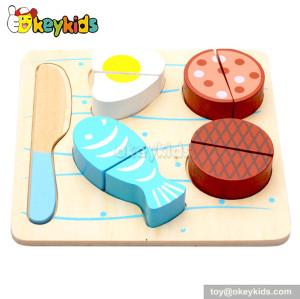 Pretend toy kids wooden play food set W10B091-B