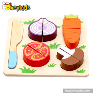 Pretend toy children wooden play food set W10B091-C